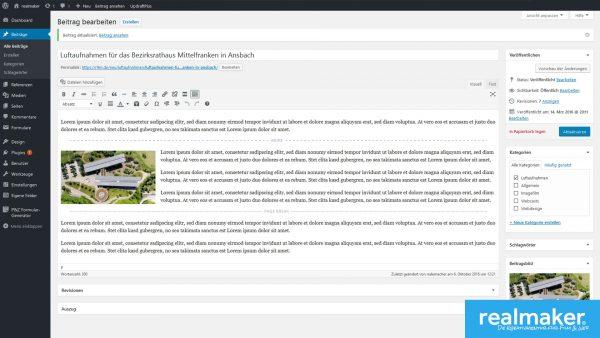 Dr Text-Editor von WordPress